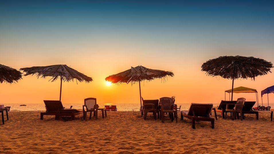 Serene beaches in Goa