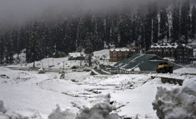 After a heavy snowfall, tourists played with the snow, danced, and enjoyed themselves at Dehra ki Gali (DKG)