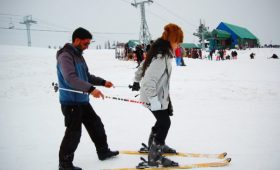 It's ski season in Gulmarg and Manali
